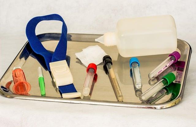 le matériel dédié aux infirmières